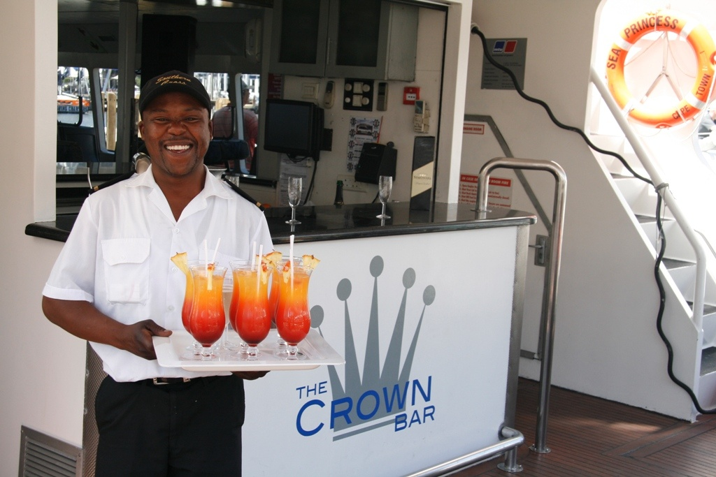 Cocktails served on Sea Princess - the epitome of luxury!